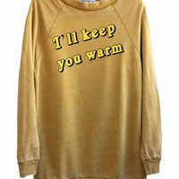 I'LL KEEP YOU WARM at Wildfox Couture in - DAISY, - BURNT ORANGE
