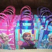 FROZEN GOODIE BAGS PARTY FAVOR GIFT BAGS 12 pieces by Disney-Brand New!