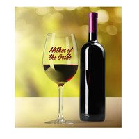 Wedding Wine Glasses ~ Burgundy ~ Personalized Mother of the Bride Glass