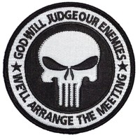 Velcro Red White Holiday Edition Punisher Flag  Tactical Operator Morale Patch