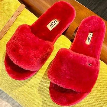 UGG hot sale fashion velvet plush slippers, leisure ladies wool slippers