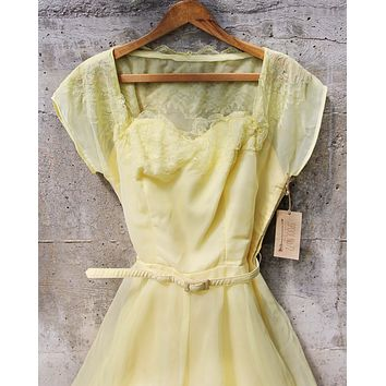 Vintage 50's Lemon Dress