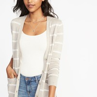 Boyfriend V-Neck Cardi for Women|old-navy