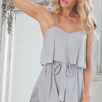 Jolie playsuit in grey