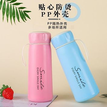 Portable Smile Cup Nes Cup Double-Layer Glass Cup Handy Water cup Water Cup