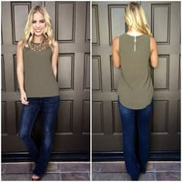 Catch of the Day Blouse - OLIVE