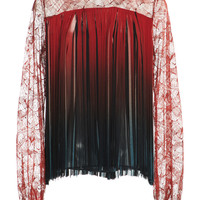 Top With Lace Sleeves | Moda Operandi