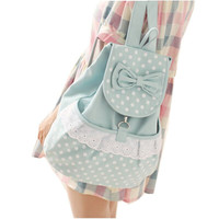 Lace Dot Canvas Backpacks For Women
