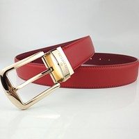 Louis Vuitton smooth belt fashion casual business pin buckle belt