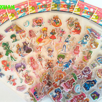 Sailormoon 8 Sheets /lot Cute 3D Cartoon Foam Puffy Sticker for Kids Girl Winx Sailor Moon