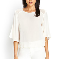FOREVER 21 Bell Sleeve Georgette Blouse
