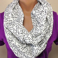 Musical Note Infinity Scarf