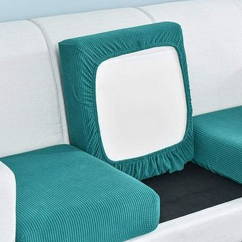 funiture protector Jacquard thick sofa cushion cover Corner sofa seat cushion slipcover elastic solid color couch cover