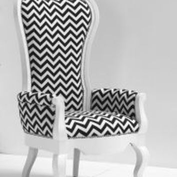 www.roomservicestore.com - Riviera Wing Chair in Zig Zag Fabric