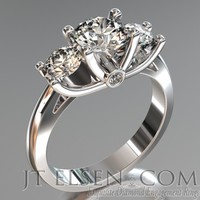 Pave diamond enagement Rings Antique style engagement ring Round Brilliant Cut Diamond halo engagement ring Princess cut halo