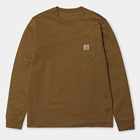 Long Sleeve Pocket Tee in Hamilton Brown