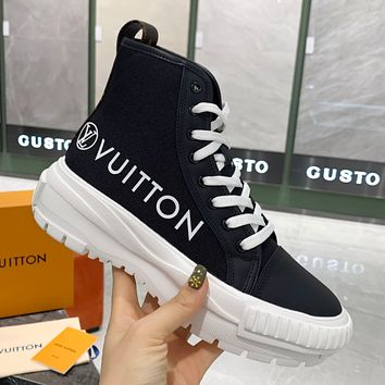 LV High top canvas sneakers