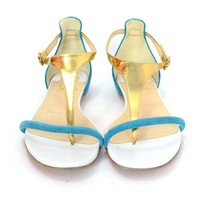 Christian Louboutin Tri-Color Thong Sandals sz 38.5