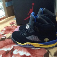 Air Jordan 5 Black yellow Basketball Shoes 41-47