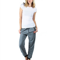 Plus Size Heathered Gray French Terry Joggers