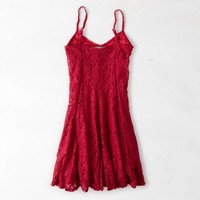 DON'T ASK WHY FIT & FLARE LACE DRESS