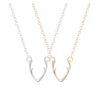 Dainty Antler Necklace
