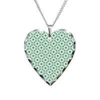 Snow Flakes and Dots Pattern Necklace