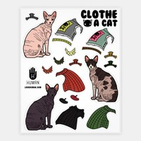 HAIRLESS CAT DRESS UP STICKER SHEET