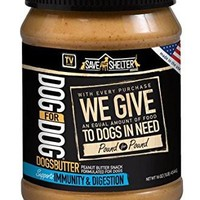 Dog for Dog Peanut Butter for Dogs with Immunity and Digestion Formula, 16-Ounce