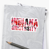 'Indiana University' Sticker by Jessica Kleman