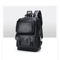 School Backpack trendy  Brand Preppy Style PU Leather  Bag For College Simple Design Men Casual Daypacks Male New Fashion 2018 AT_54_4