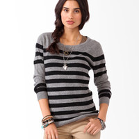 Striped Colorblocked Sweater