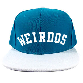 Weirdos Snapback Hat in Teal