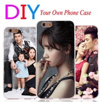 Customize Private Cases For Apple iPhone 4 4S 5 5S SE 5C Diy Personalize photo Hard Phone Shell Cover For iPhone 6 6S 7 plus