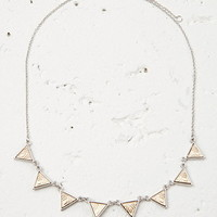 Etched Triangle Charm Necklace