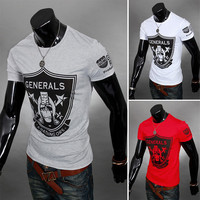 Short Sleeve Men's Fashion Printed Tee