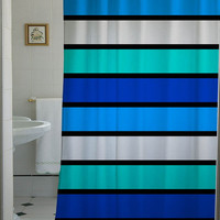 Funky bright striped shower curtain that will make your bathroom adorable