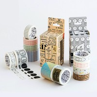 Vintage Washi Tape Scrapbooking Tool Adhesive Tape Decorative Tape School & Office Supply DIY Sticker Deco Japanese Masking Tape