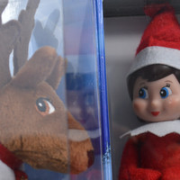 Elf on the Shelf with Push Reindeer Story Book Set Girl Scout Elf