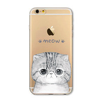 """Soft Slim TPU Transparent Soft Phone Bags Case Cover for iphone 6 4.7"""" Cute Animal Cat Owl Rabbit Pattern Painted Phone Case"""