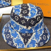 LV New fashion monogram print fisherman hat sunscreen cap hat Blue