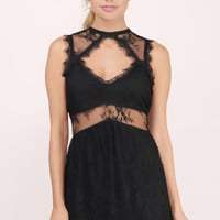 Sure Romance Lace Babydoll Dress