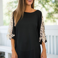 How I Show My Love Blouse, Black