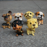 Creative Resin Dogs Decoration Cars Accessory [6271596550]