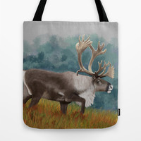 Caribou  Tote Bag by North Star Artwork