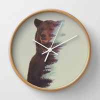 Observing Bear Wall Clock by Andreas Lie