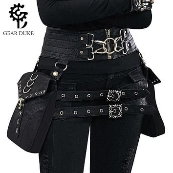 Steampunk Double Holster Leather Bag