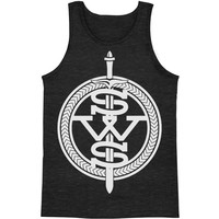 Sleeping With Sirens Men's  White Symbol Mens Tank Heather Rockabilia