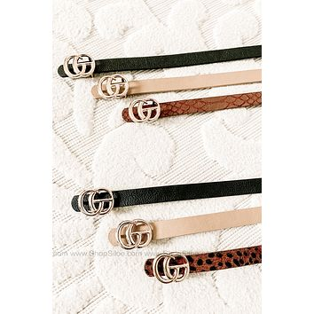 Mini Gucci Inspired Belts   3 Pack   Colors