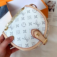 LV printed letters women's horseshoe bag shoulder bag crossbody bag